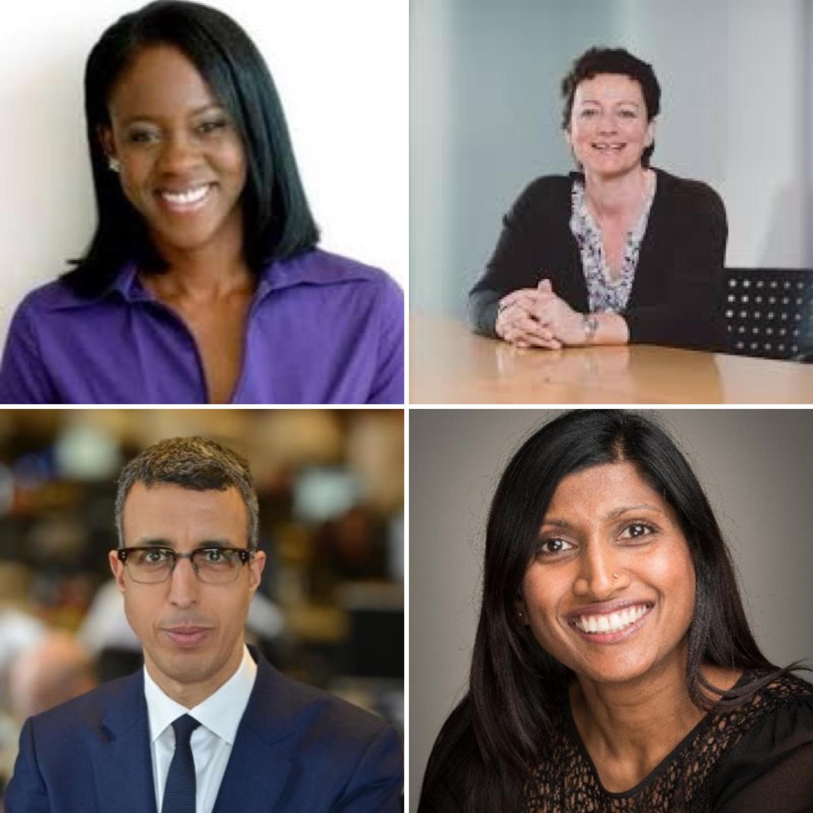 Clockwise from top left: Gillian Joseph, Vikki Cook, Babita Bahal and Kamal Ahmed