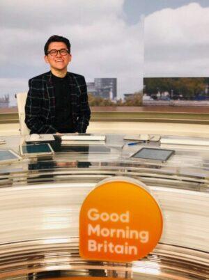 Brad Grant on set of Good Morning Britain