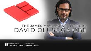 Poster showing David Olusoga for for MacTaggart Lecture 2020