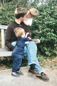 John with nephews Jack and Harry