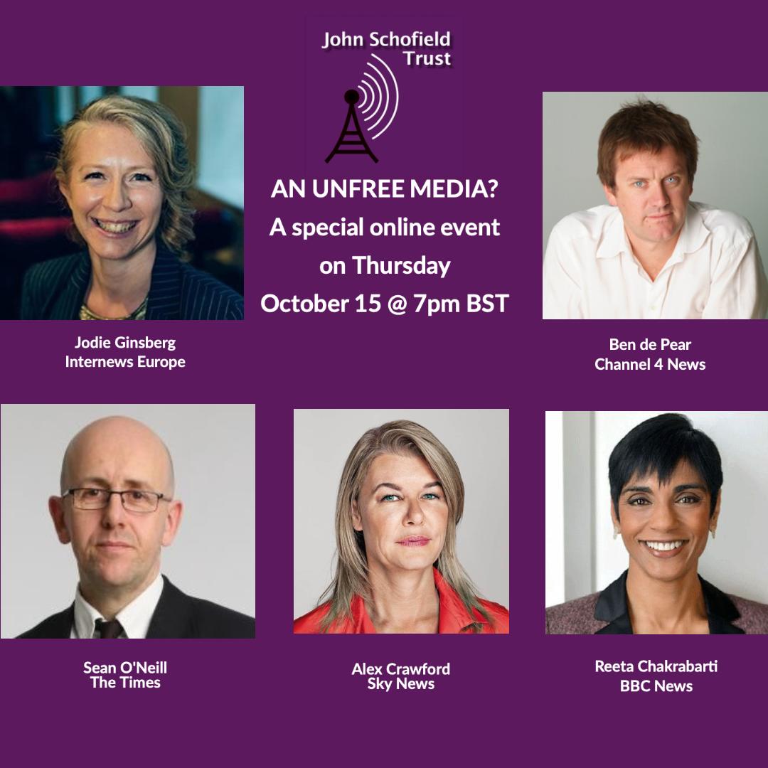 An unfree media? Thursday 15 October, 19:00 BST