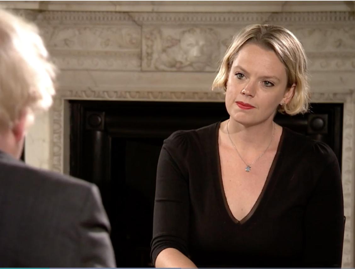 Hannah Miller interviewing PM Boris Johnson