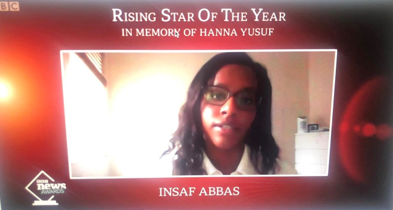 Insaf wins BBC's Rising Star of the Year award!