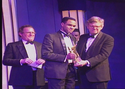 Cary Johnston winning 1996 first JST/RTS Young Talent of the Year Award