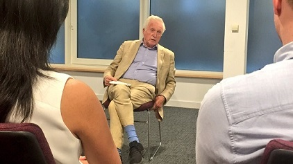 David Dimbleby giving a masterclass to JST mentees