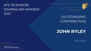 RTS slide announcing John Ryley Outstanding Contribution 2021