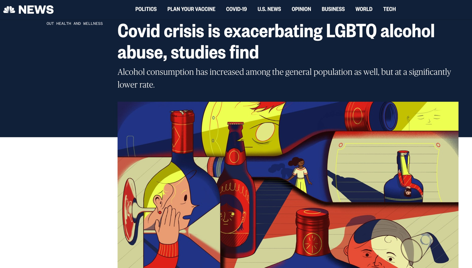 Finbarr Toesland reports on how COVID is exacerbating LGBTQ alcohol abuse