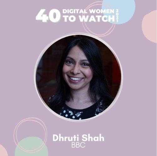Trustee Dhruti Shah recognised as one of 40 Digital Women to watch