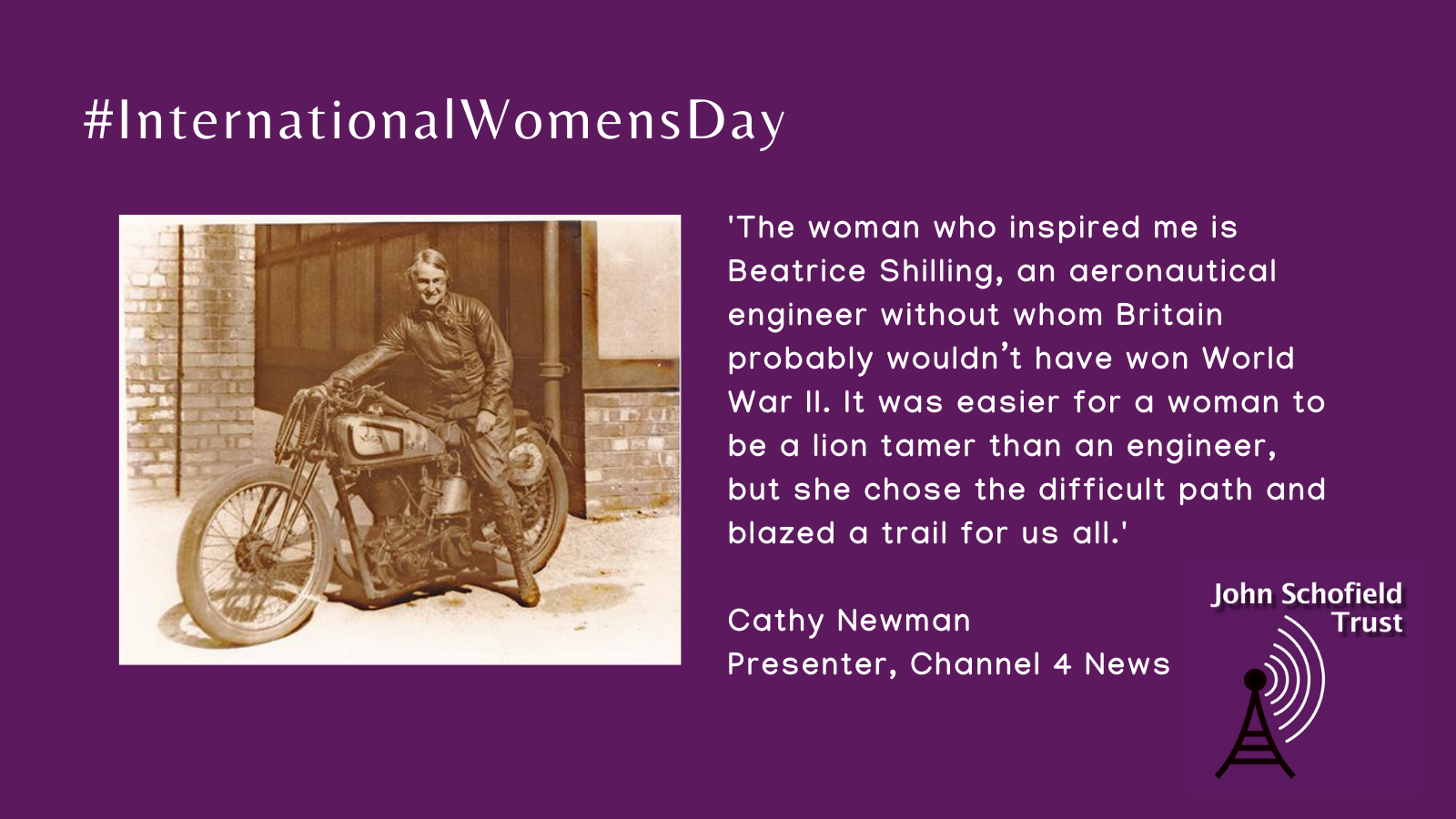 Cathy Newman's inspirational woman slide for #IWD