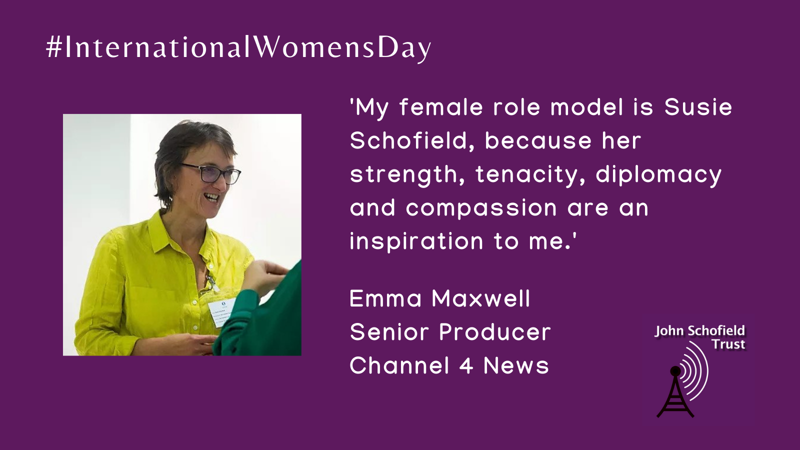 Emma Maxwell's inspirational woman for #IWD