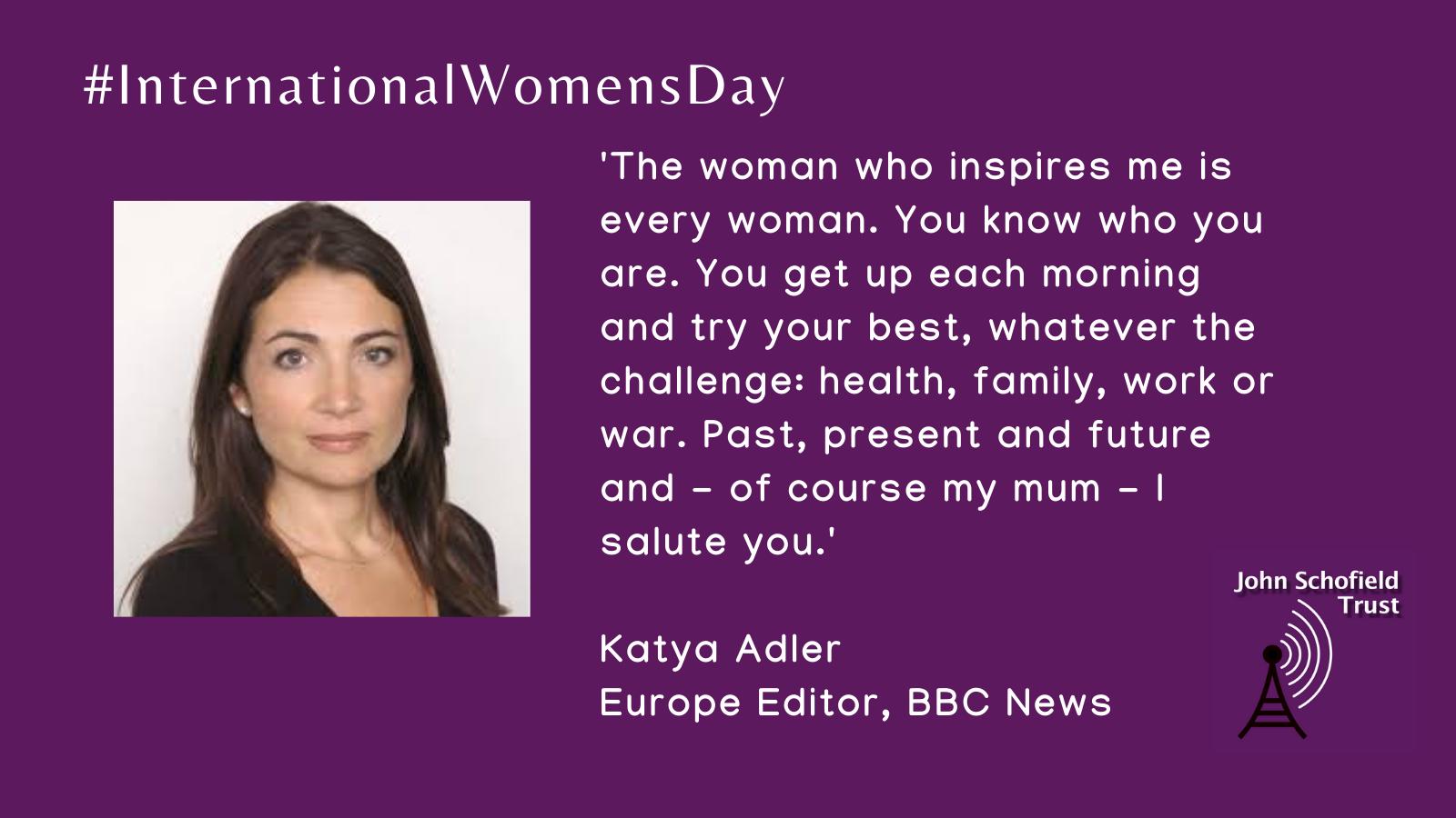 Katya Adler's inspirational women slide for #IWD