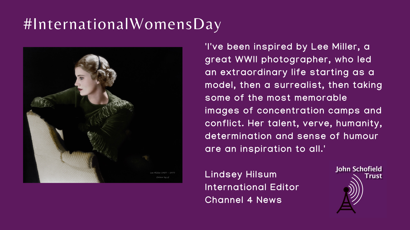 Lindsey Hilsum's inspirational woman for #IWD