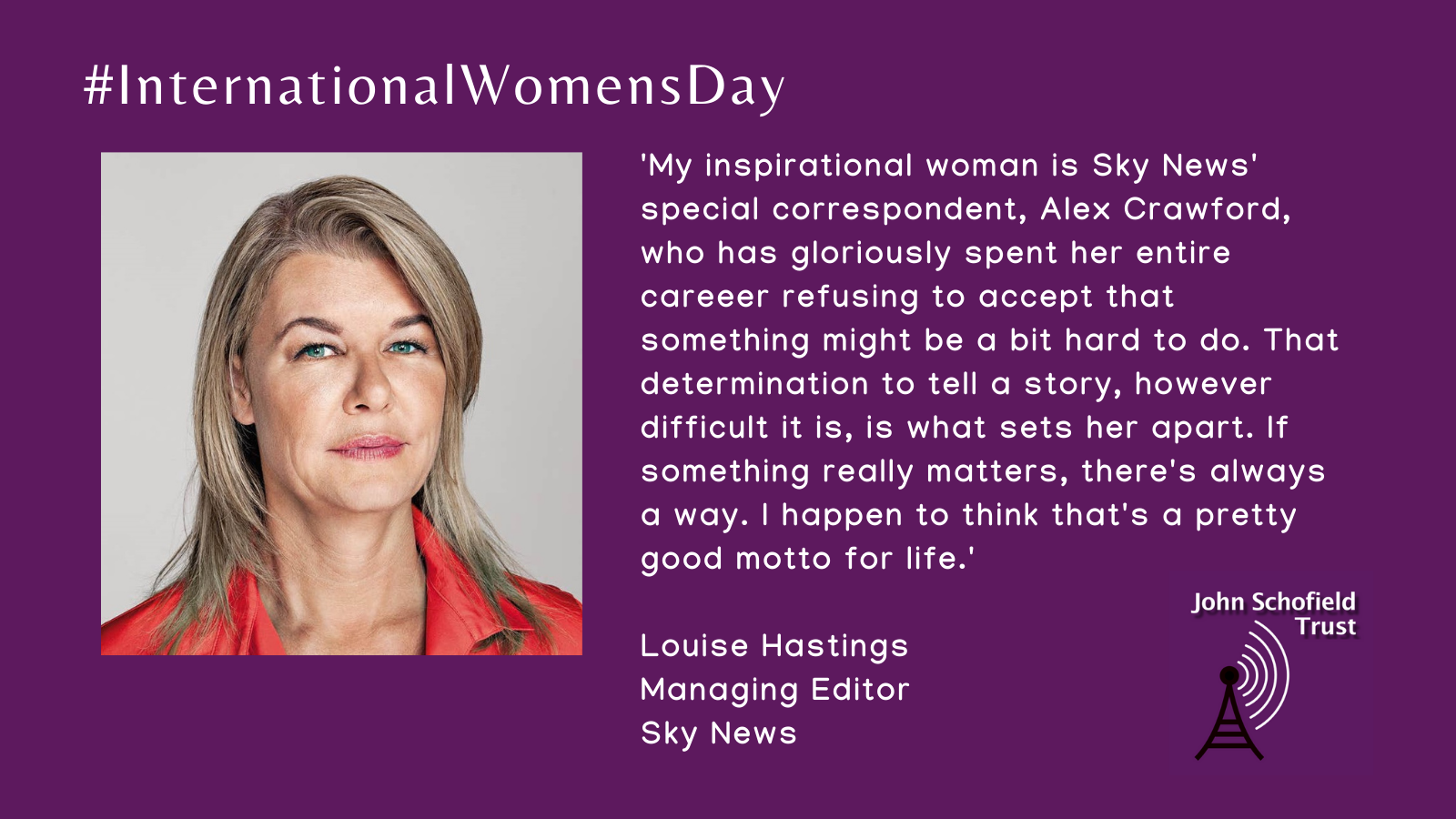 Louise Hastings's inspirational woman for #IWD