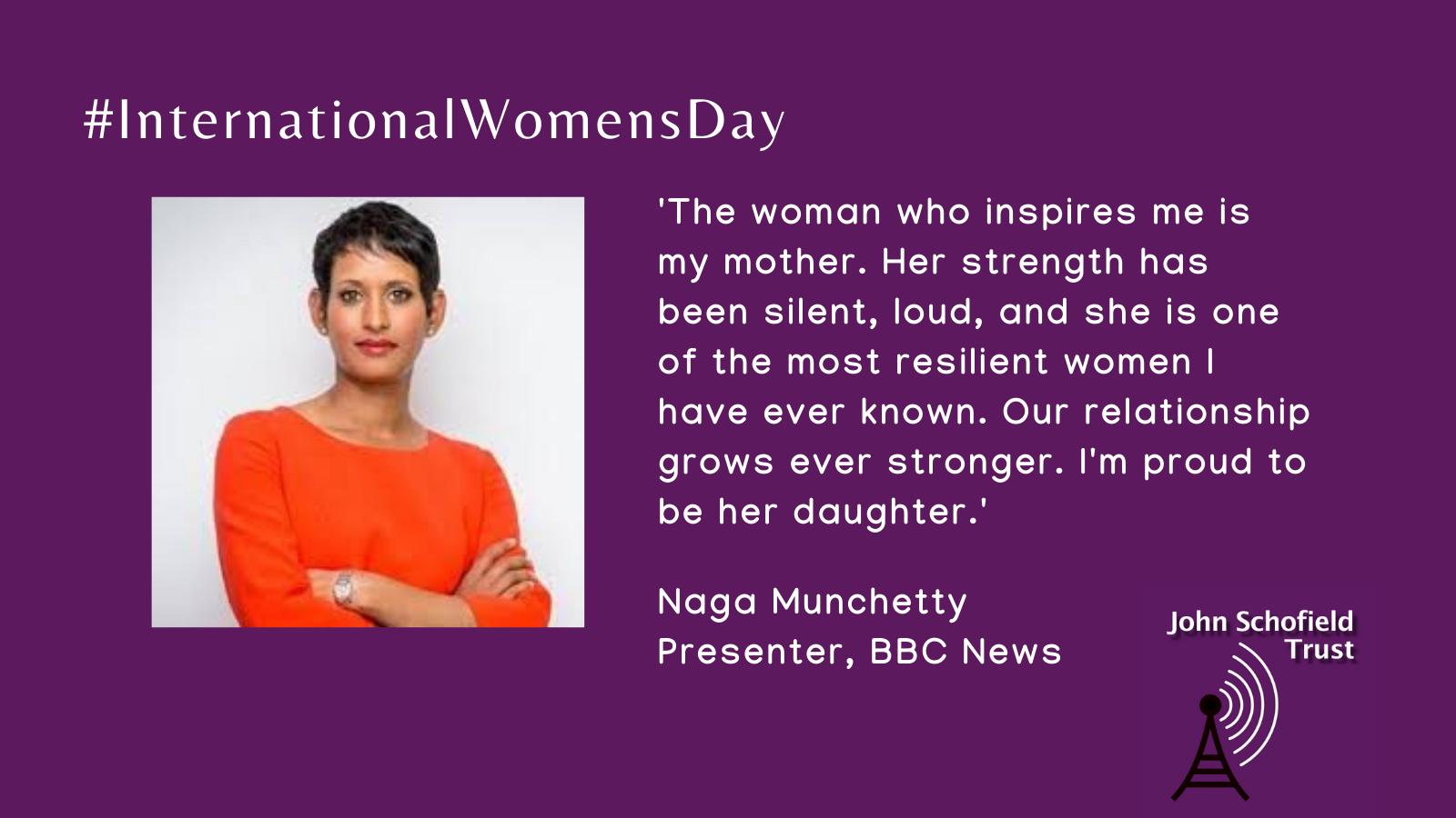 Naga Munchetty's inspirational woman for #IWD