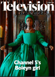 Front cover of RTS magazine, Television, March 2021