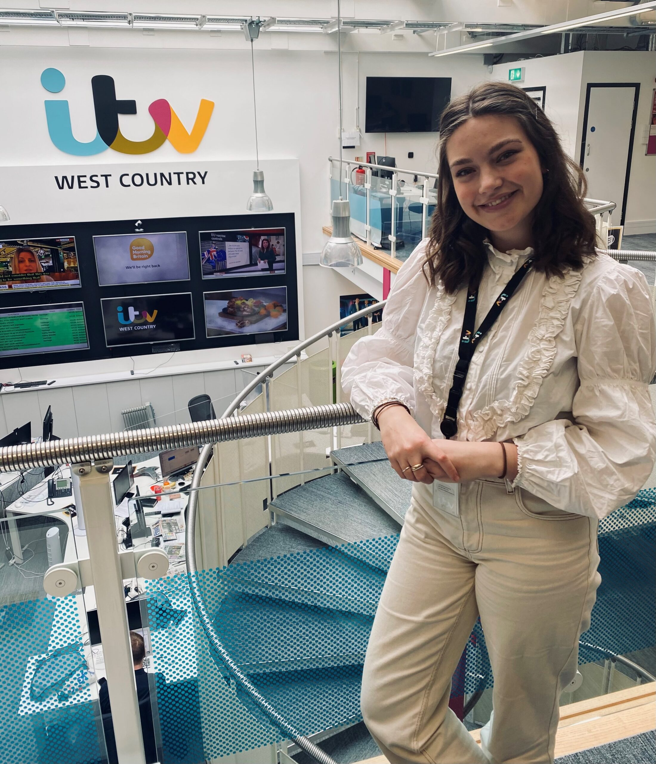 Siri in the ITV West Country newsroom