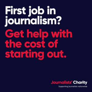 Journalists' Charity slide offering help